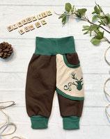 Trachtenpumpi Baumwollsweat grün/ braun