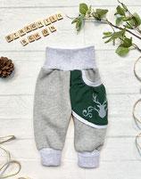 Trachtenpumpi Baumwollsweat dunkelgrün/ grau