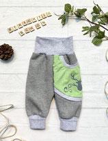 Trachtenpumpi Baumwollsweat hellgrün/ grau