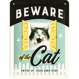 Nostalgic-Art Animal Club - Beware of the Cat, Blechschild 15x20 cm