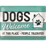 Nostalgic-Art  PfotenSchild - Dogs Welcome, Blechschild 30x40 cm