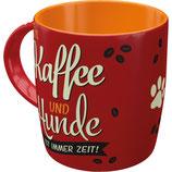 Nostalgic-Art PfotenSchild Tasse - Kaffee und Hunde
