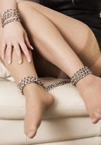 Fuß-Kette 3 reihig, extrem stabil, Ringe verschweißt