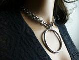 Halskette, gedrehte Kette, 11x3mm, mit großem Ring 5x60mm