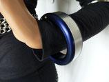 Arm-Reif mit Kette, blau, Aluminium, Einzelstück