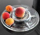 Kerzenhalter / Früchteschale aus Glas