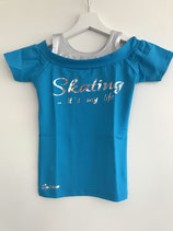 Sparrow kurzarmshirt 'Skating is my life'