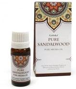 Aceite Aromático Puro Goloka - Sándalo India.  10 ml