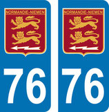 Lot de 2 stickers Normandie Niemen et n° 76