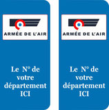 Lot de 2 stickers Armée de l'Air N° au choix