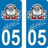 lot de 2 paires de stickers N° 05 Scratch Sébastien Loeb  et 3 signatures Daniel et 3 signatures Seb Lob