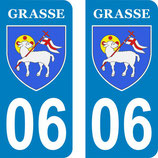 Lot de 2 stickers de la ville de GRASSE