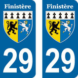 Lot de 2 stickers armoiries du Finistère 29