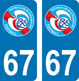 Lot de 2 stickers RCS avec N° 67
