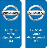 Lot de 2 stickers Nissan N° au choix
