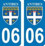 Lot de 2 stickers de la ville d'Antibes n° 06