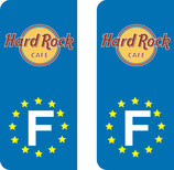 Lot de 2 stickers Hard Rock Café Europe