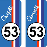 "Lot de 2 stickers "" Choupette "" N° 53"