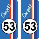 "Lot de 2 stickers "" Choupette "" N° 53"