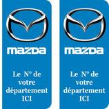 """Lot de 2 stickers Mazda N° au choix à nous préciser dans la rubrique """" Remarques """""""