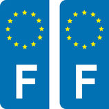 lot de 2 stickers  F Europe