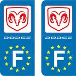 Lot de 2 stickers Dodge Europe