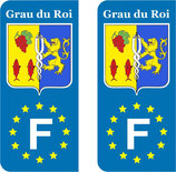 Lot de 2 stickers Grau du Roi Europe