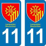 Lot de 2 Blasons Languedoc Roussillon 11 Aude