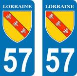 Lot de 2 Blasons Lorraine 57 Moselle