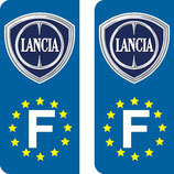 Lot de 2 stickers Lancia F europe