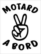 sticker MOTARD A BORD  15 cm de haut