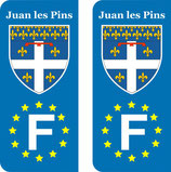 Lot de 2 stickers Juan les Pins Europe