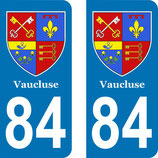 Lot de 2 stickers Blason du Vaucluse 84