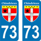 Lot de 2 stickers Chindrieux n°73
