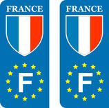 Lot de 2 stickers France Europe