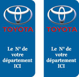 Lot de 2 stickers Toyota n° au choix