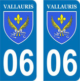 Lot de 2 stickers Ville de Vallauris n° 06