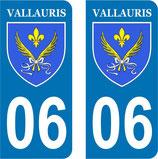 Lot de 2 stickers Ville de Vallauris n° 06