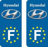 Lot de 2 stickers Hyundai Europe