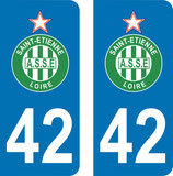 Lot de 2 stickers A.S.S.E n° 42