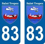 Lot de 2 stickers Ville de St Tropez