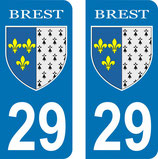 Lot de 2 stickers Armoiries ville de Brest