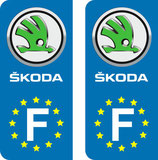 Lot de 2 stickers Skoda Europe