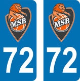 Lot de 2 stickers MSB avec le n° 72