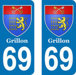 "Lot de 2 stickers perso ""  Grillon "" n° 69"