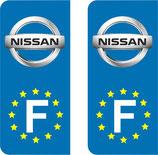 Lot de 2 stickers Nissan Europe