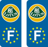 Lot de 2 stickers Lotus Europe