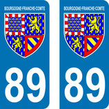 Lot de 2 Blasons Bourgogne 89 Yonne