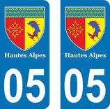 Lot de 2 Blasons Hautes Alpes 05