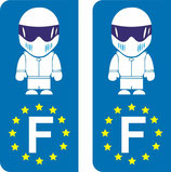 Lot de 2 stickers STIG Europe
